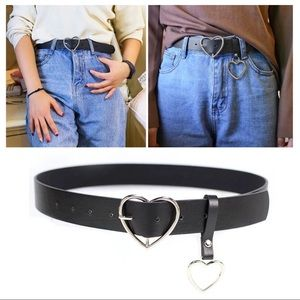Accessories - 🖤 Heart Buckle PU Leather Belt